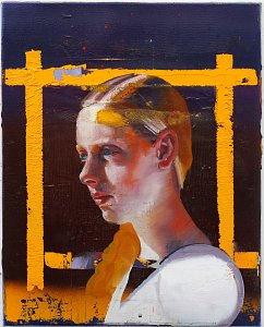 (Portrait),Painting by Rayk Goetze